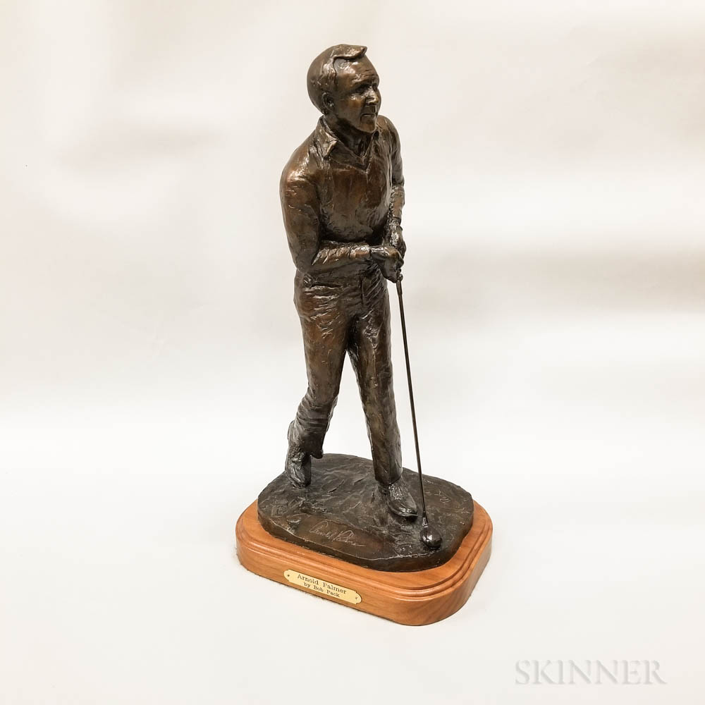 Bob Pack (American, 20th Century) Bronze Sculpture of Arnold Palmer