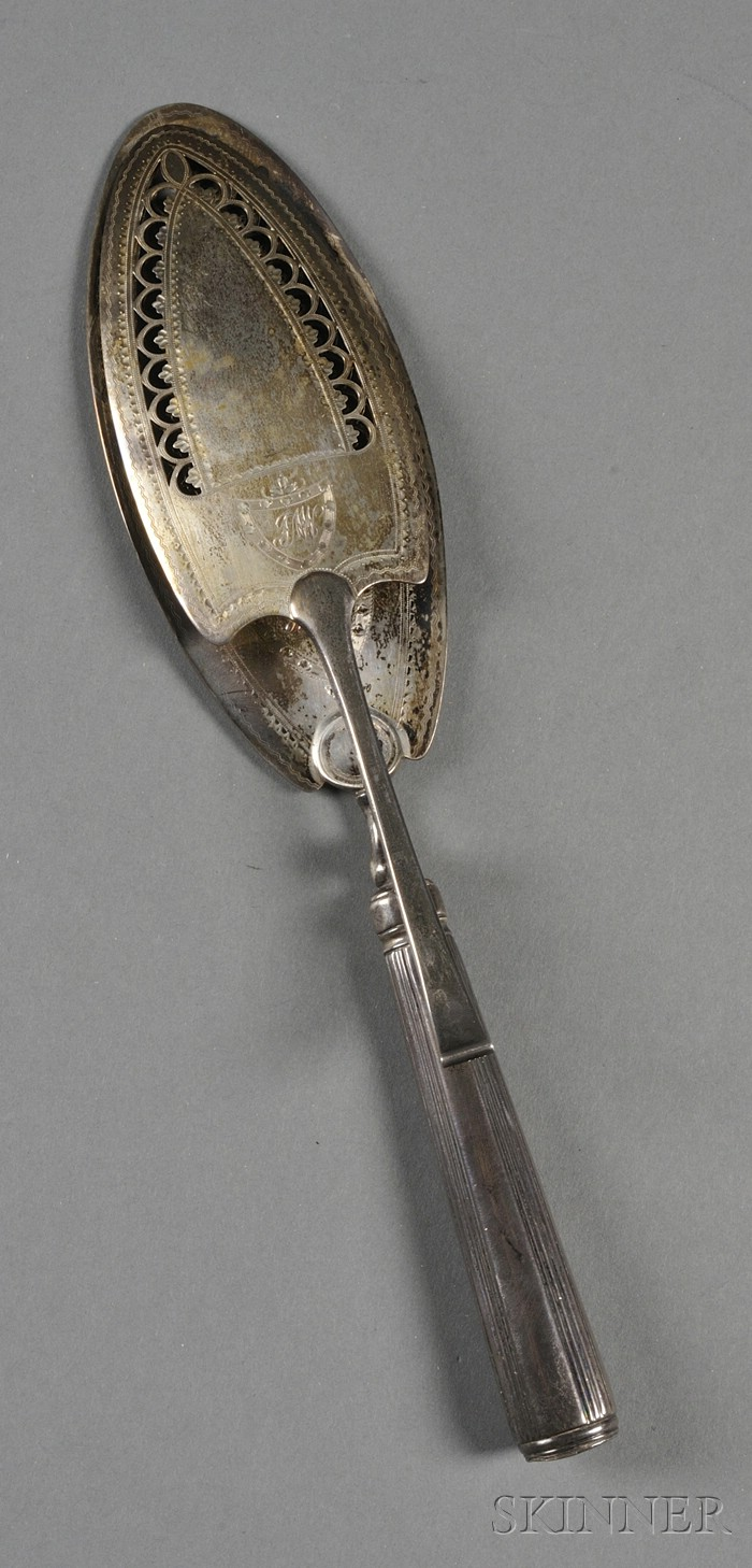 George III Silver Fish Tongs