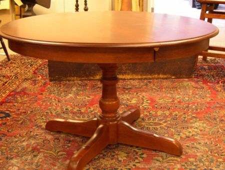 L Hitchcock Stained Wood Pedestal Base Dining Table Sale Number 2285 Lot Number 865 Skinner Auctioneers