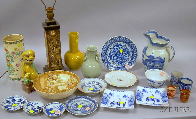 Twenty Pieces of Assorted Asian Porcelain and Pottery.