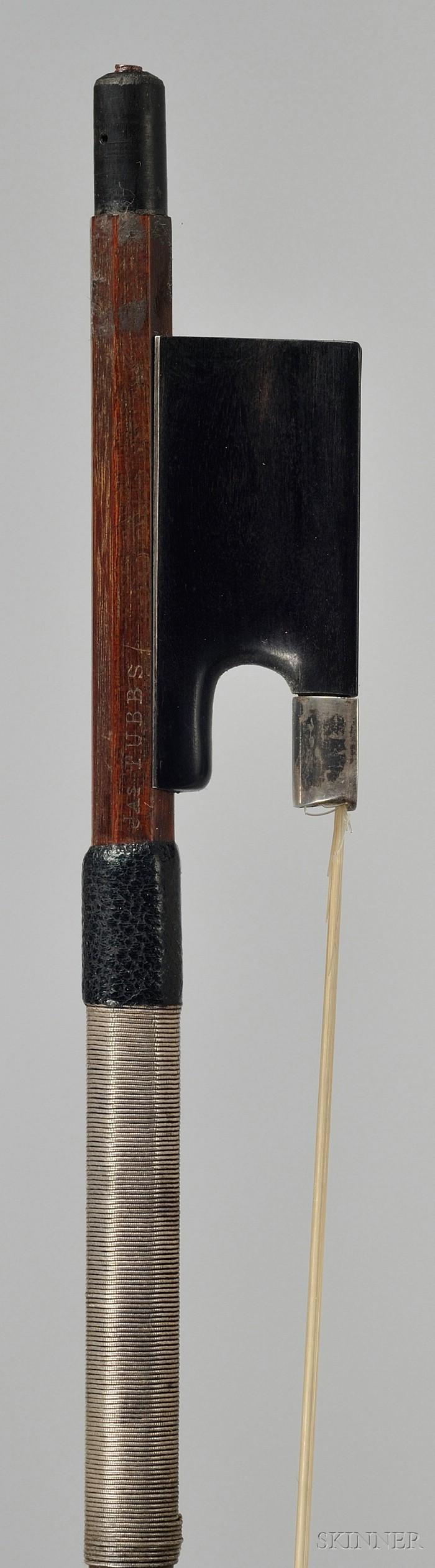 English Silver Mounted Violin Bow, James Tubbs