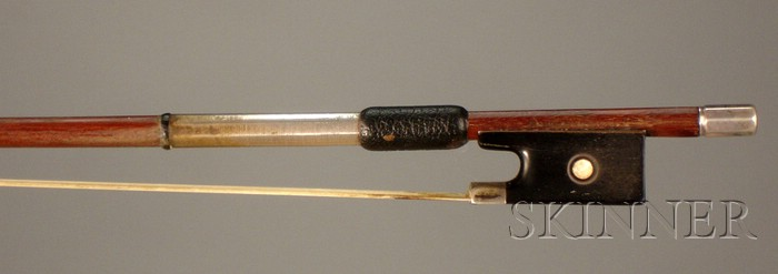 French Silver Violin Bow, Joseph Arther Vigneron