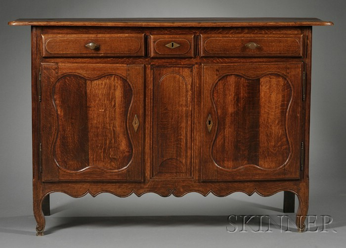French Provincial Oak Buffet