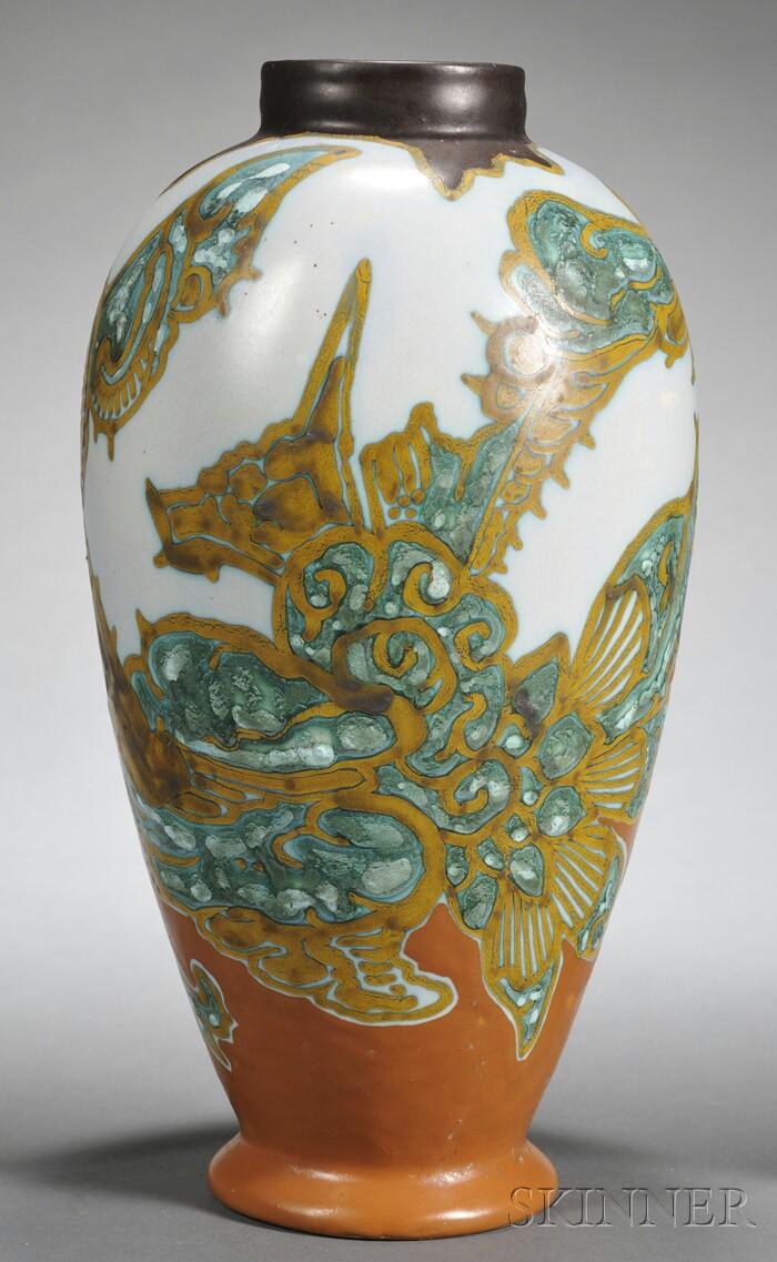 Gouda Matte Glaze Breetvelt Pottery Vase