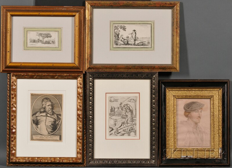 Group of Nine Miscellaeneous Framed Prints