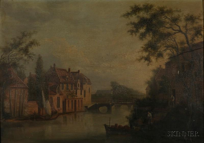 Northern School, 19th Century      The Village Waterway.