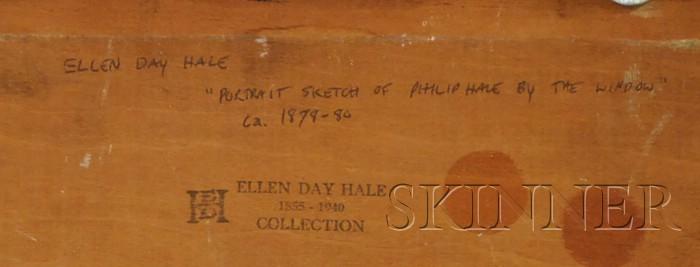 Ellen Day Hale  (American, 1855-1940)      Portrait Sketch of Philip Hale by the Window