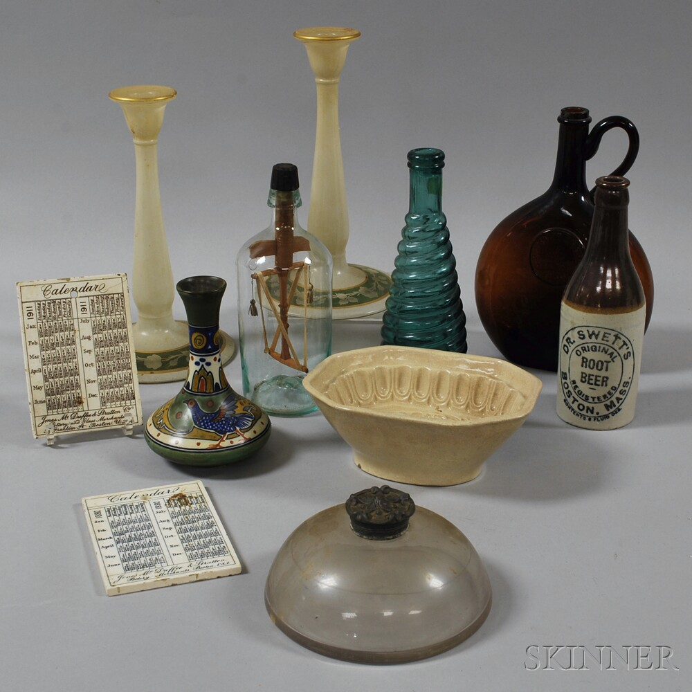 Group of Glass and Pottery Items