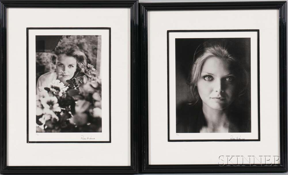 Roddy McDowall (English, 1928-1998)      Two Portraits: Lee Remick, Beverly Hills