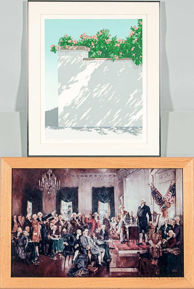 three framed allison miller prints a susan bailey print and a
