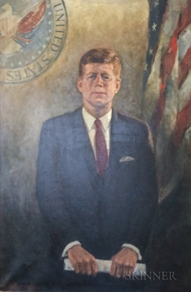 Jack Callahan (American, 1911-1981)      Portrait of President John F. Kennedy