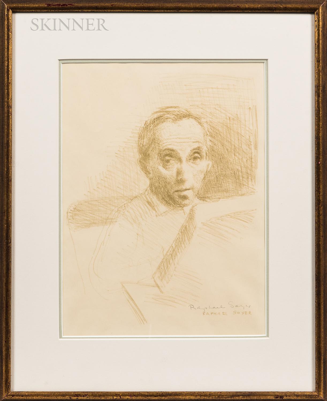 Raphael Soyer (American, 1899-1987)      Self Portrait.