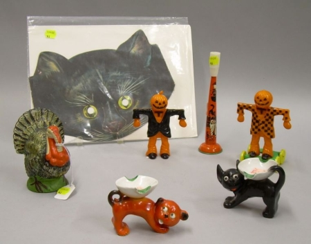 Group of Halloween and Other Collectibles