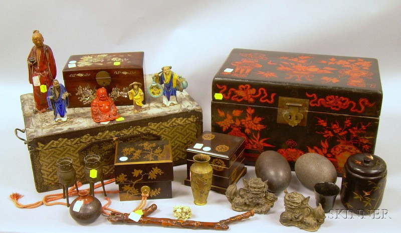 Group of Miscellaneous Decorative Asian Articles