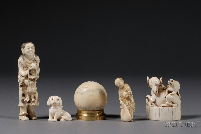 Five Ivory Carvings