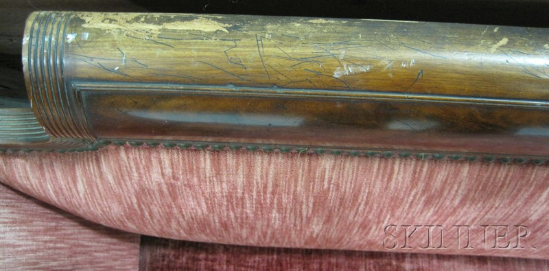 Classical Mahogany Carved and Mahogany Veneer Parcel-gilt Sofa