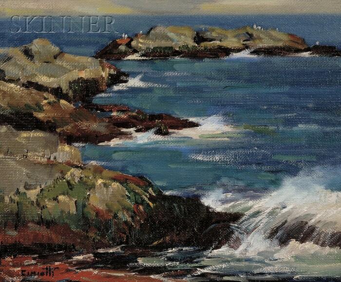 Gustave Cimiotti (American, 1875-1969)      Rocky Shore
