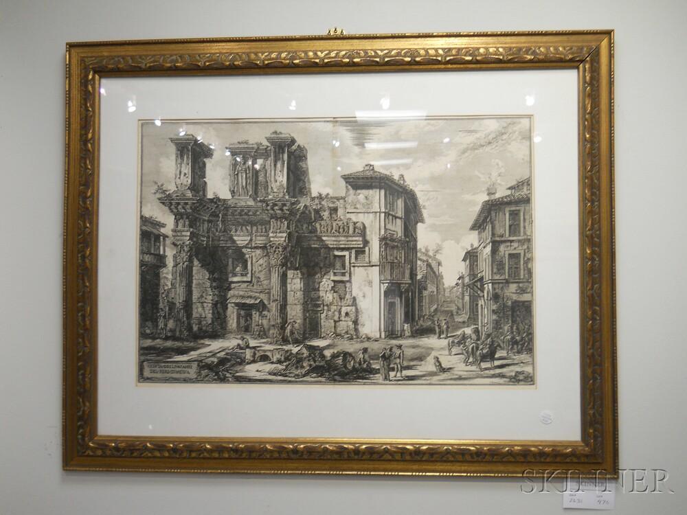 Giovanni Battista Piranesi (Italian, 1720-1778)      Veduta degli avanzi del Foro di Nerva