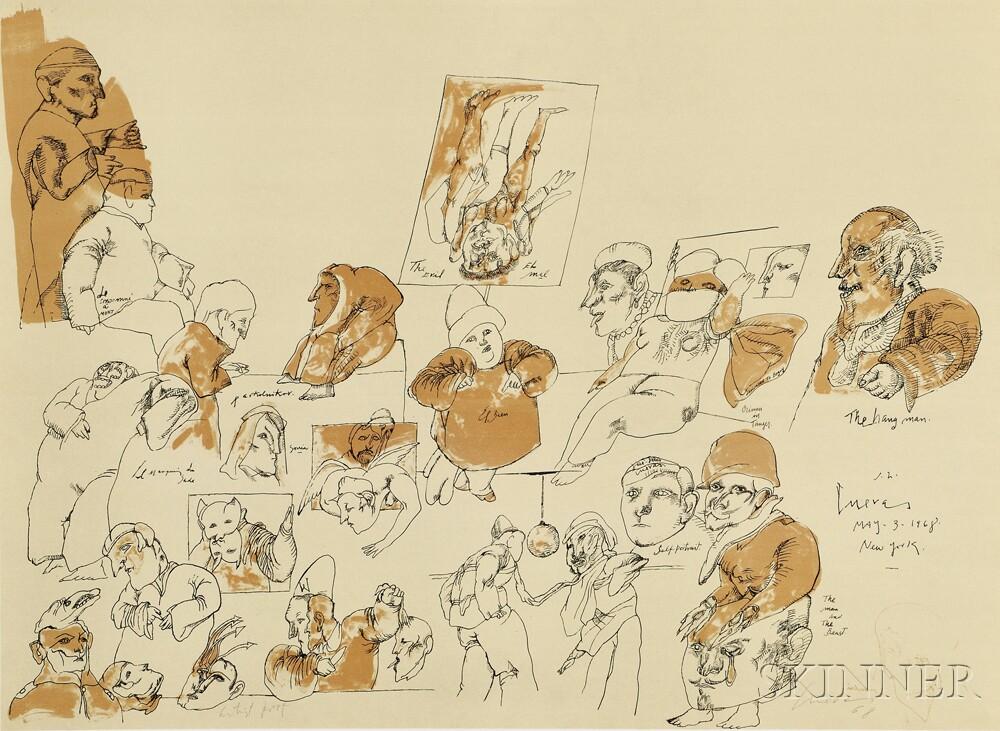 José Luis Cuevas (Mexican/American, b. 1933)      Three Prints