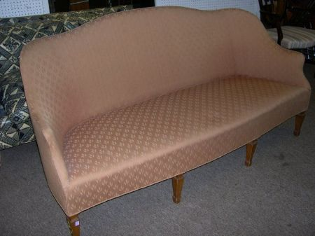 Sheraton-style Upholstered Settee.