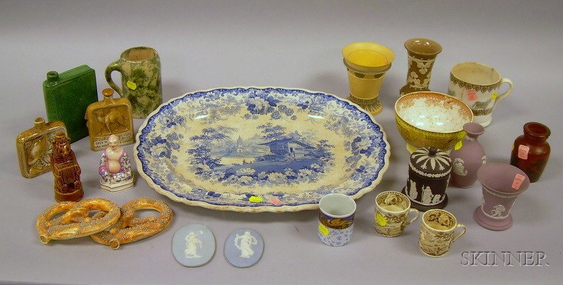 Group of English and European Pottery