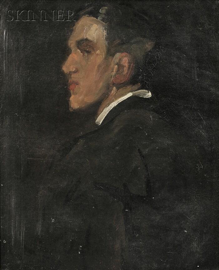 Alice Schille (American, 1869-1955)      Profile Portrait of a Man