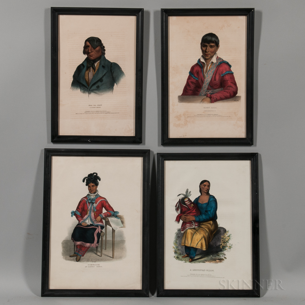 Set of Four Lithographs from The History of the Indian Tribes of North America