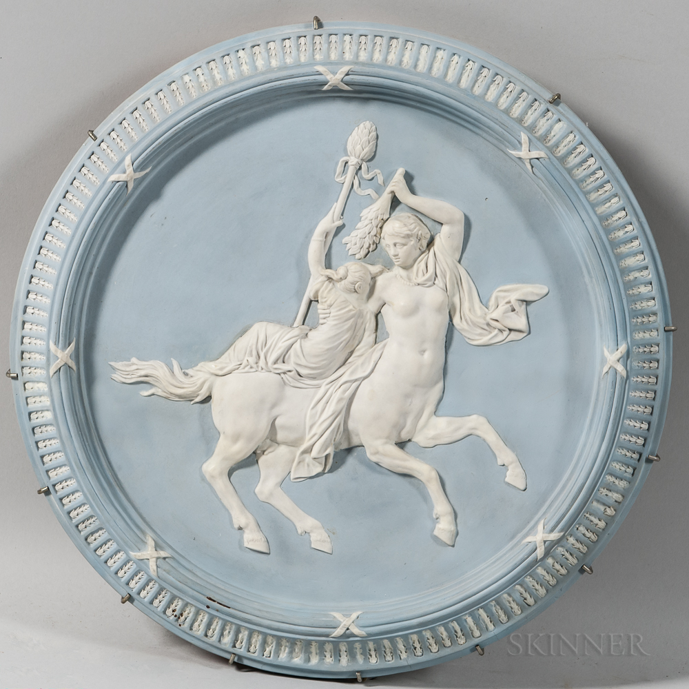 Wedgwood Solid Pale Blue Jasper Self-framed Plaque
