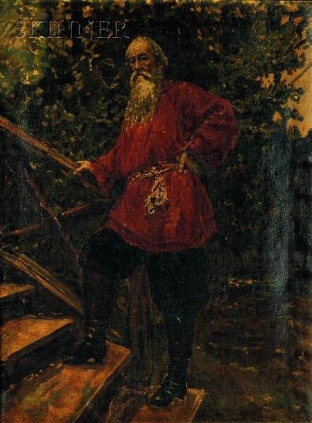 Ilya Efimovich Repin or His Circle (Russian, 1844-1930)    Portrait of Vladimir Stasov