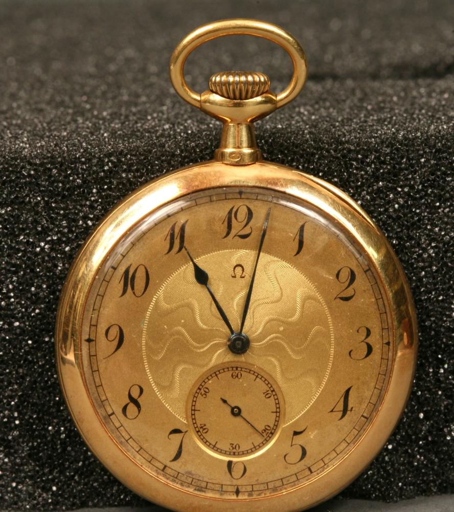 18kt Gold Weingart Open Face Watch