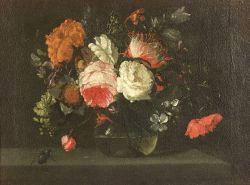 Manner of Nicolaes van Veerendael (Flemish, 1640-1691)  Floral Still Life with Beetle