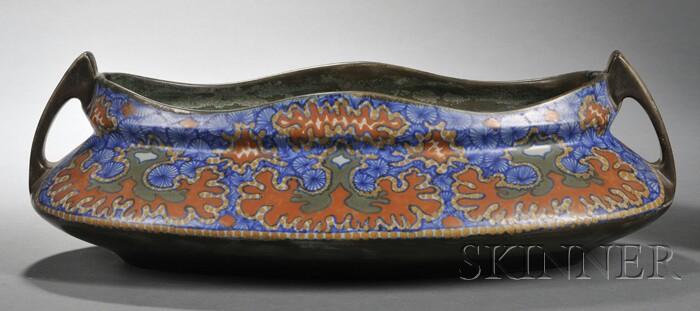 Gouda Matte Glaze Two-handled Pottery Jardiniere