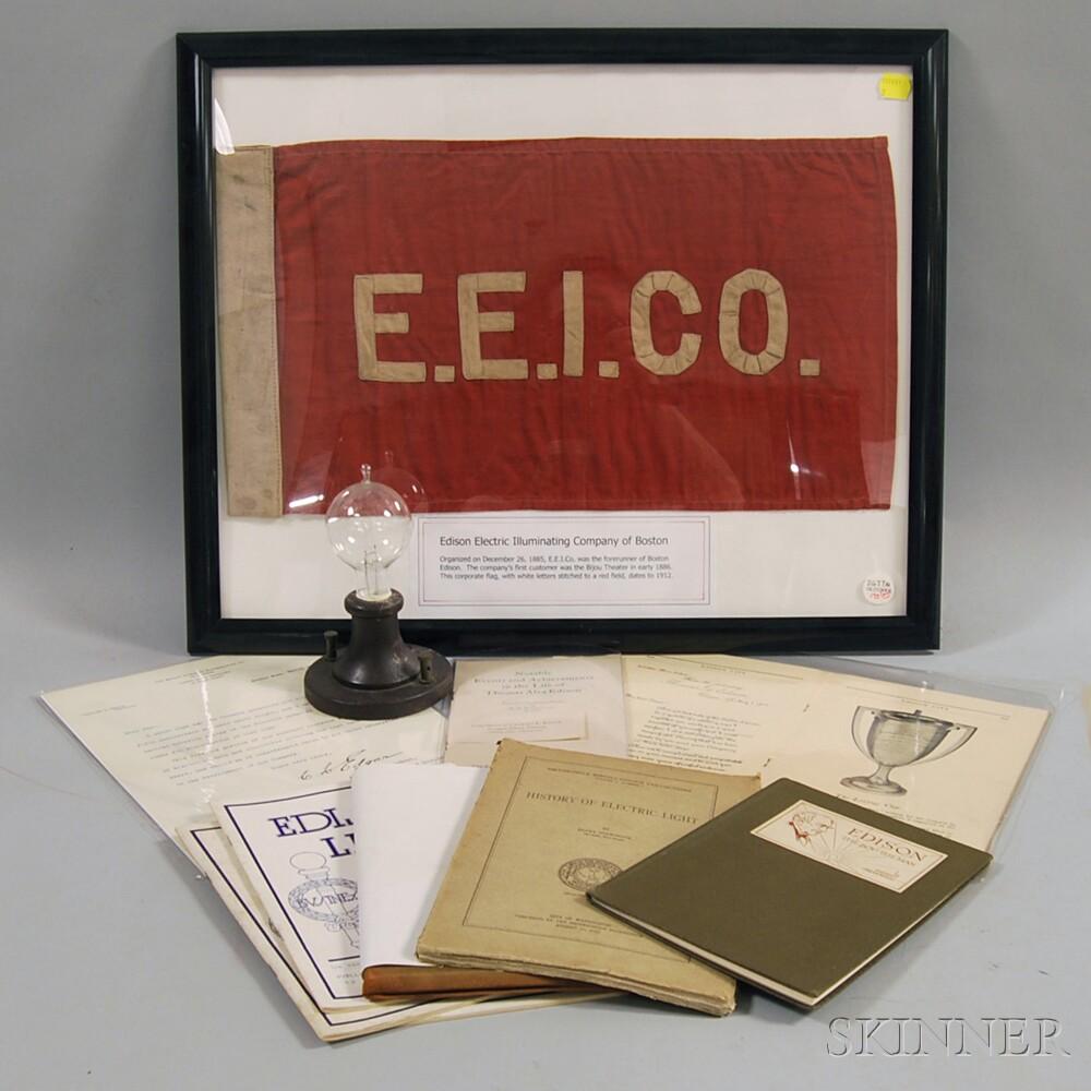 Group of Edison Electric Illuminating Company Items
