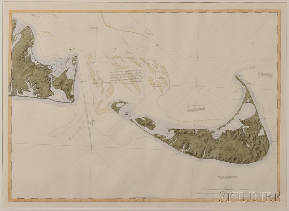Nantucket and Mount Desert Island, Two Facsimile Maps. Joseph Frederick Wallet Des Barres (1721-1824)