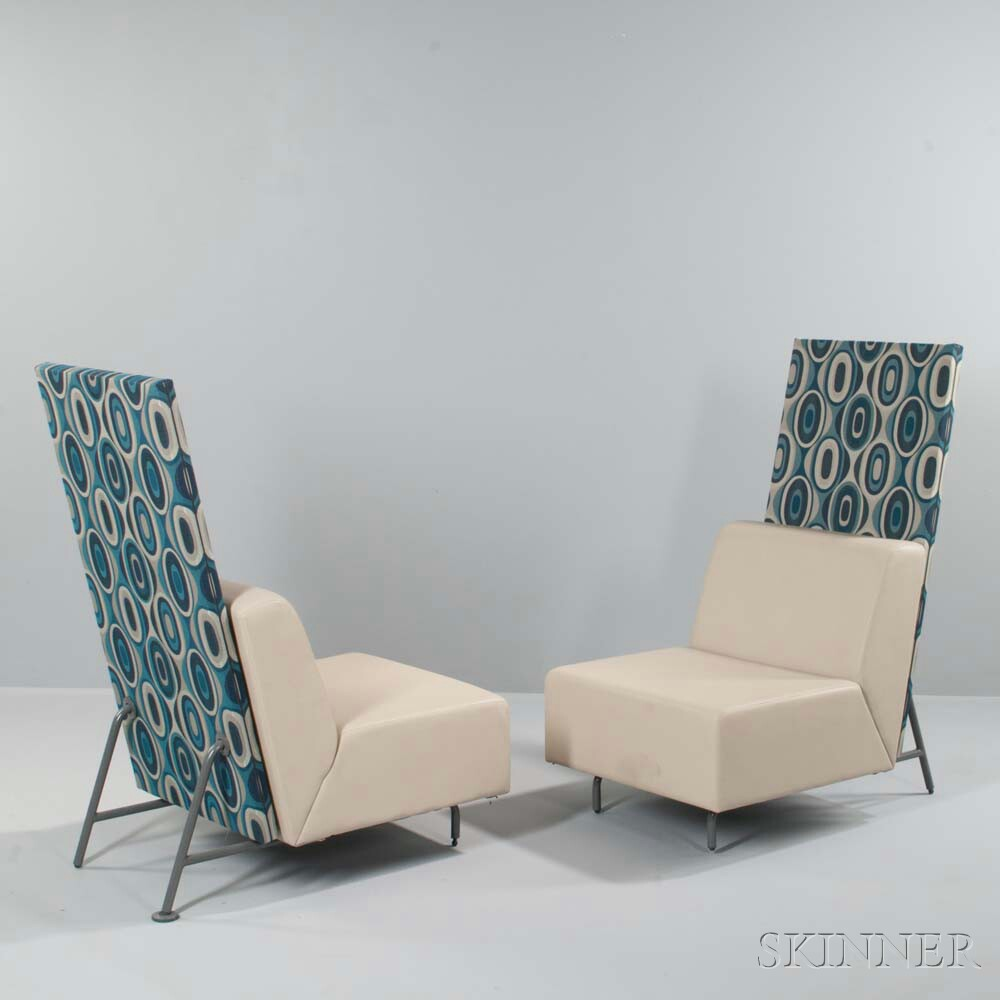 Two Upholstered Steelcase Bix Lounge Seats