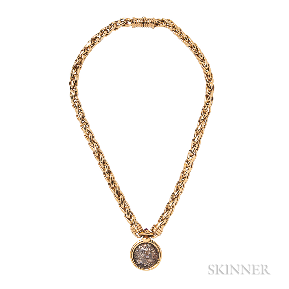 "18kt Gold and Ancient Coin ""Monete"" Necklace, Bulgari"