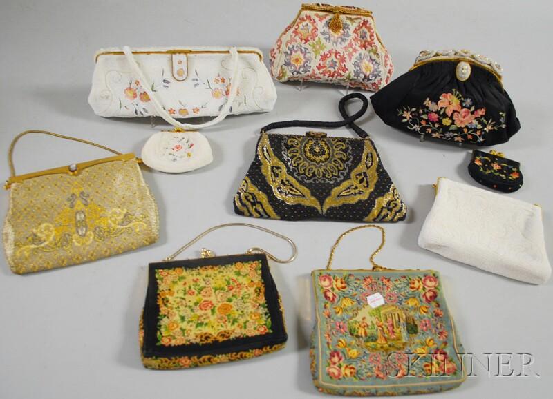 Ten Antique and Vintage Ladies' Purses