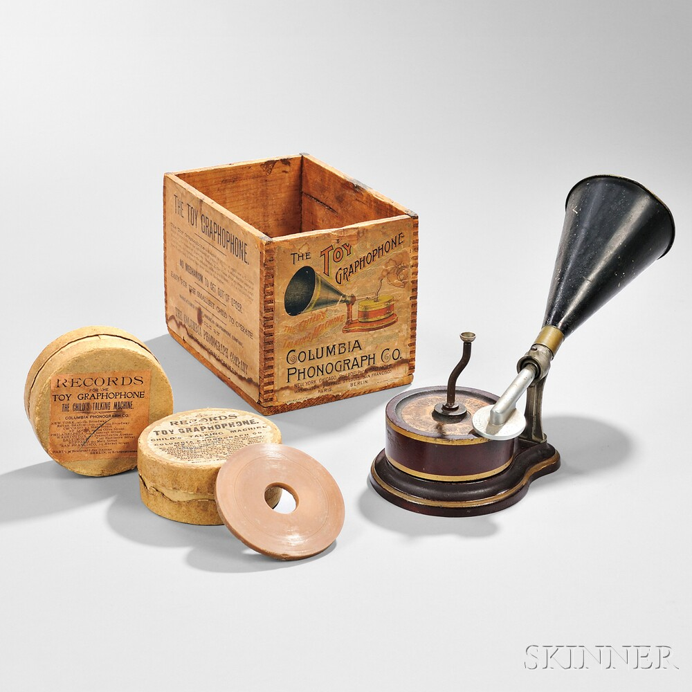 """Columbia Phonograph """"The Toy Graphophone,"""""""