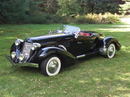Auburn Boattail Speedster Style Convertible Automobile