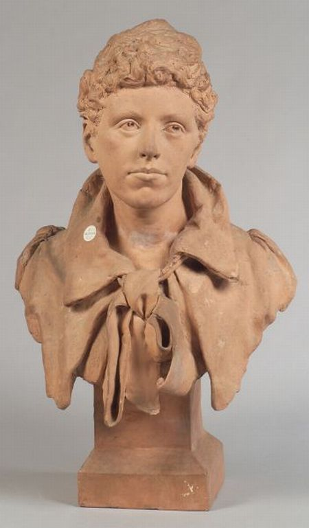 Victorian Terracotta Bust of a Young Poet