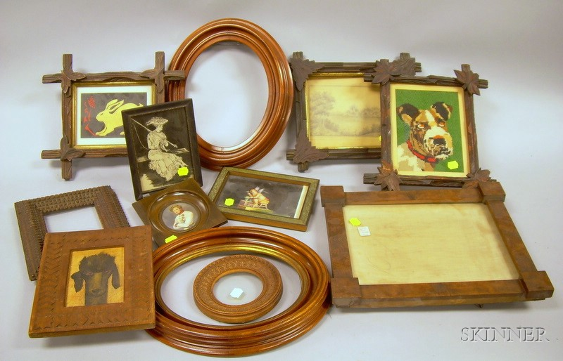 Twelve Assorted Decorative Wooden Frames