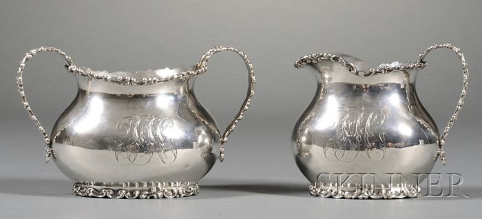 Durgin Sterling Creamer and Two-handled Sugar Bowl