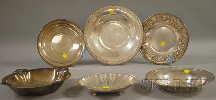Six Silver Table Items