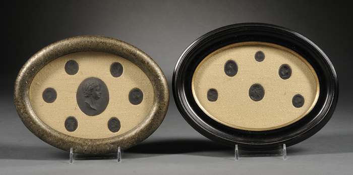 Two Framed Groups of Wedgwood and Related Black Basalt Medallions