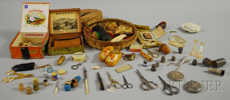 Group of Antique Sewing Items