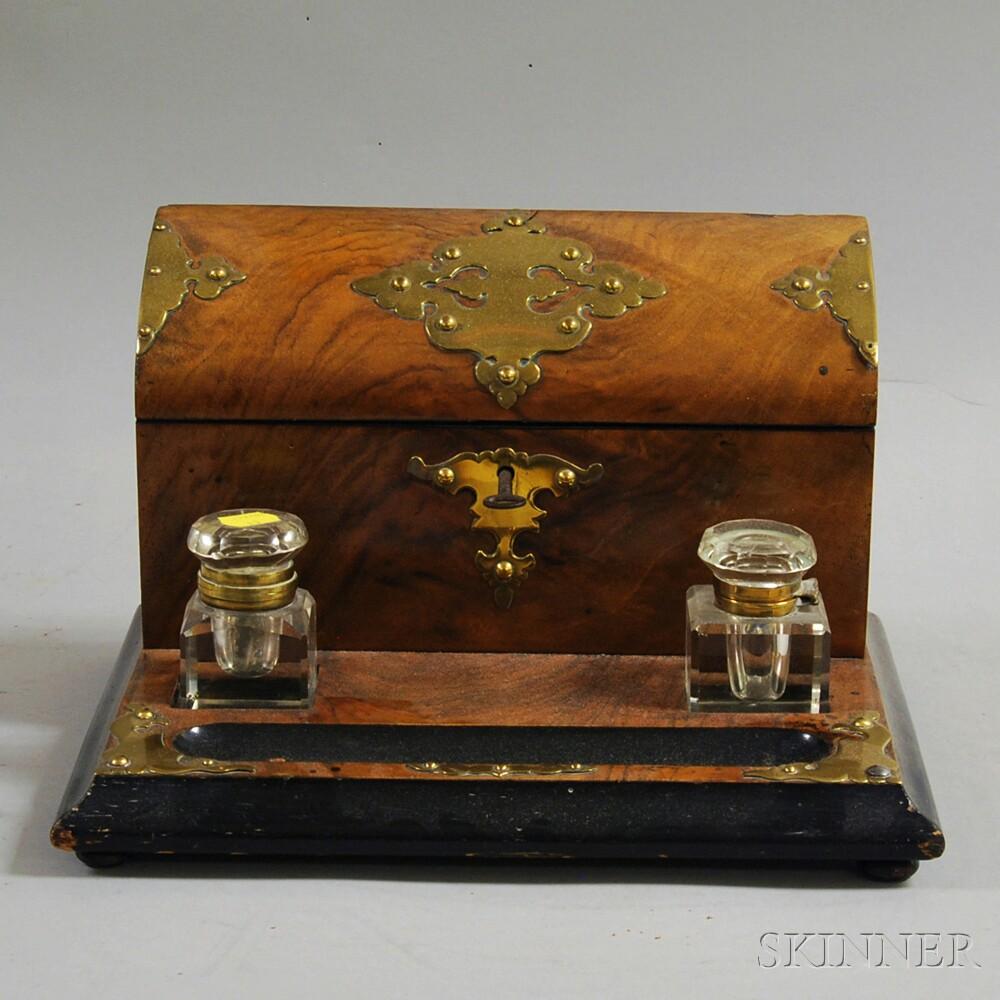 Brass-mounted Desk Set