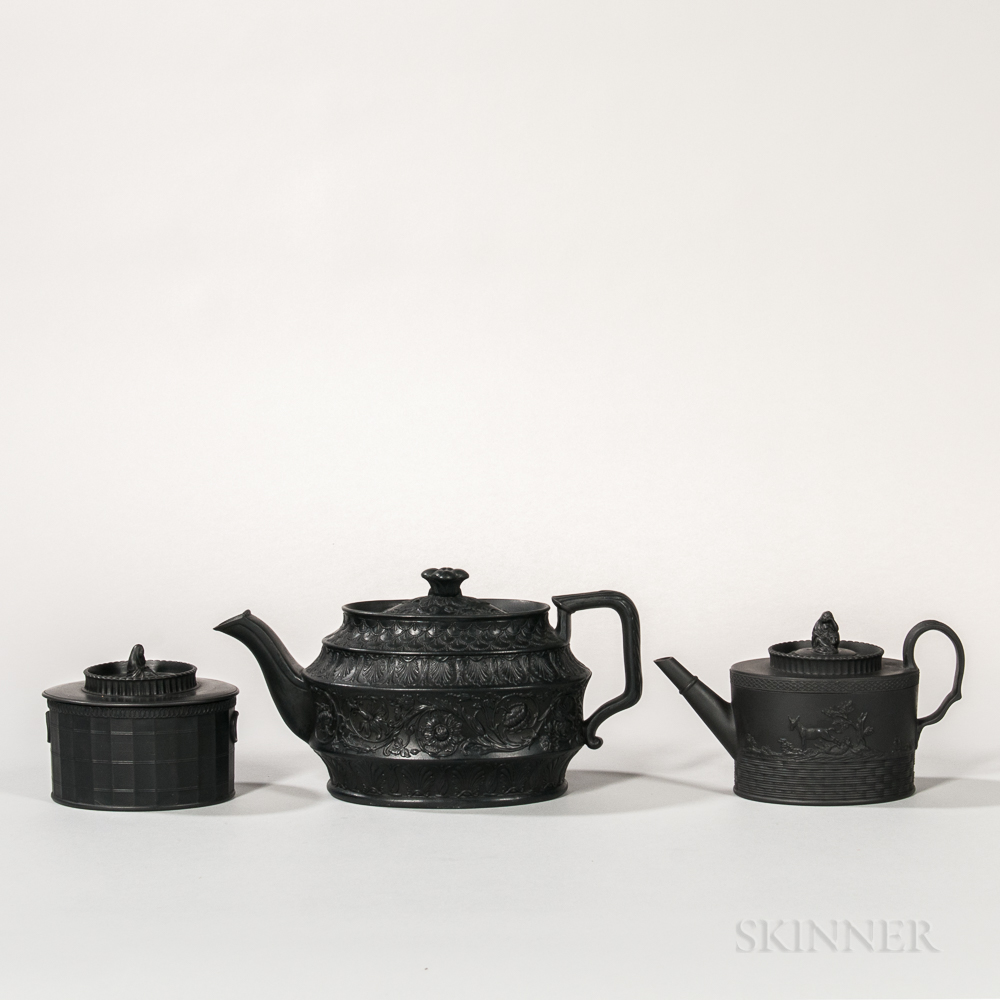 Three Black Basalt Tea Wares