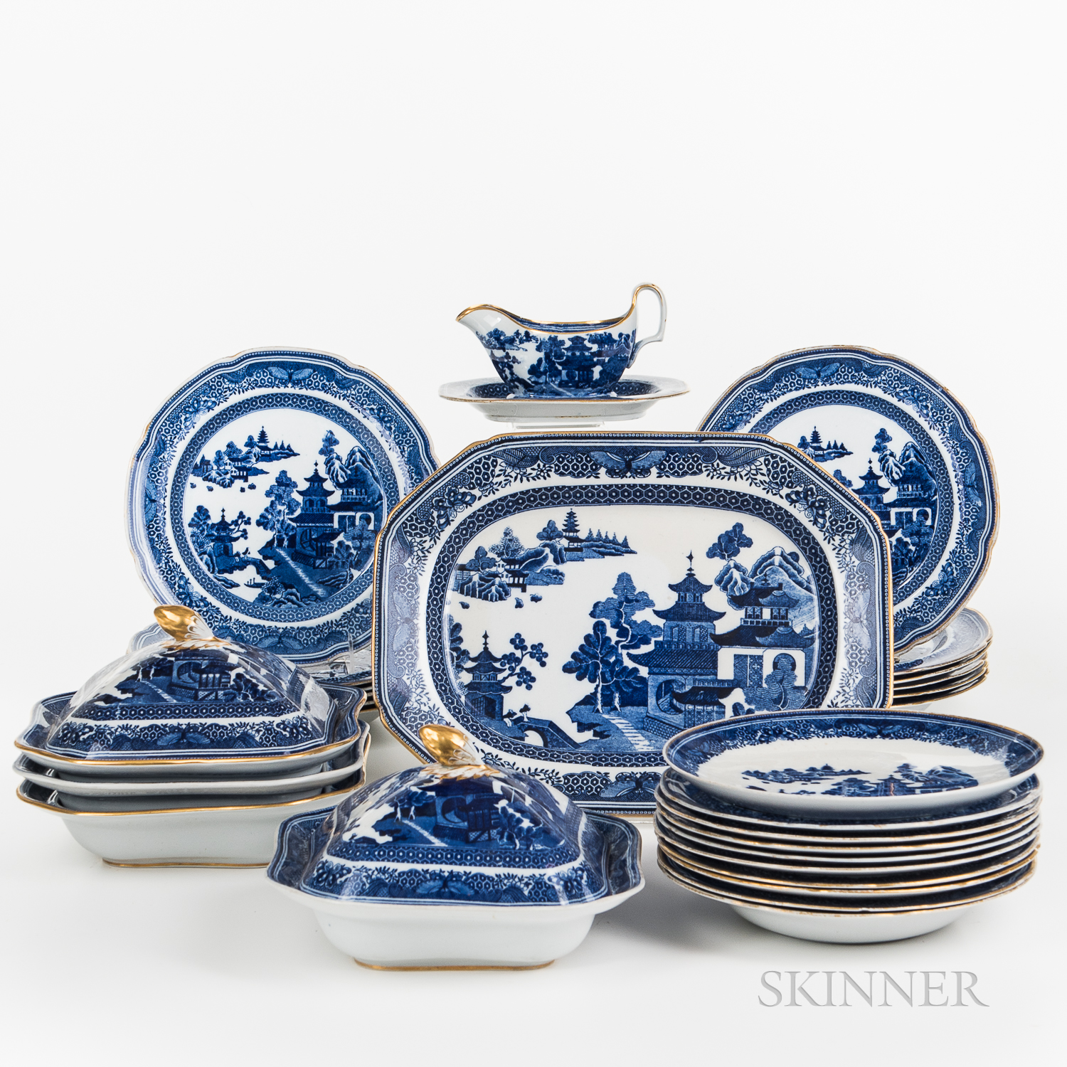 Approximately Forty Pieces of Spode Dinnerware