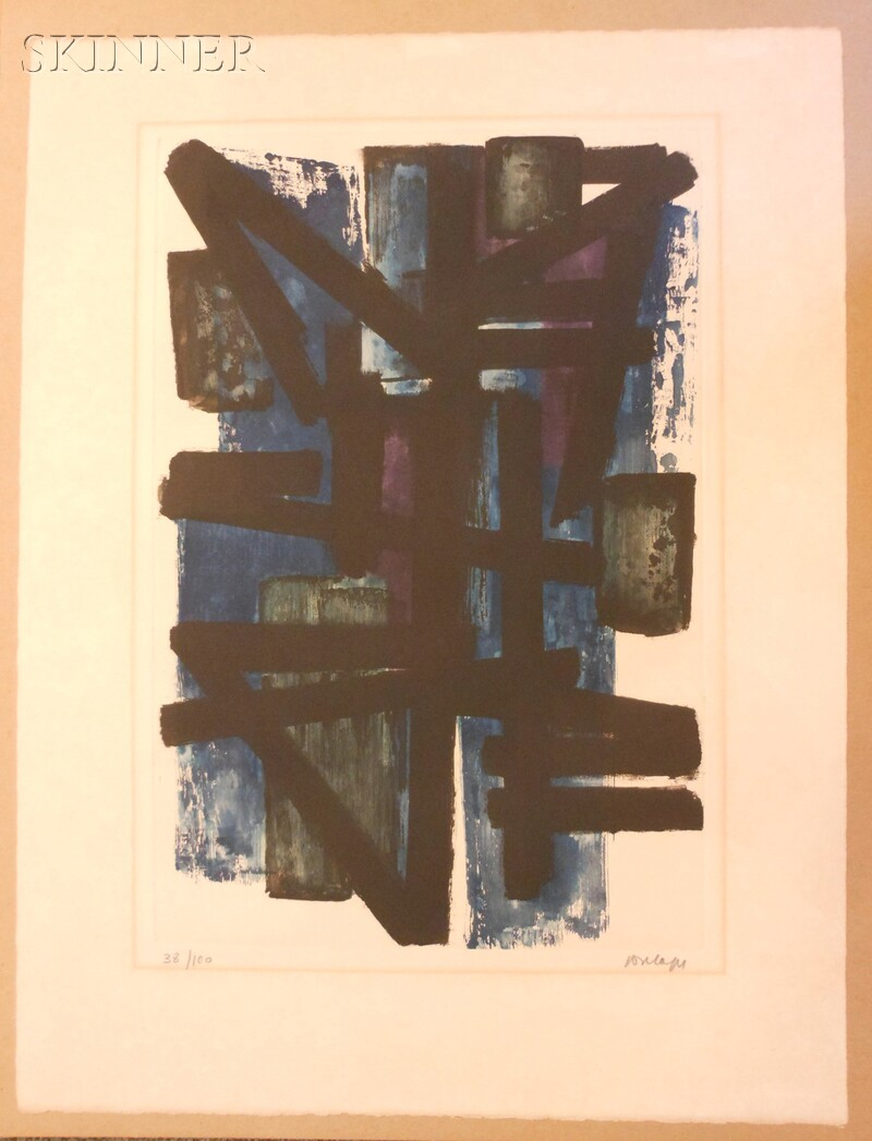 Pierre Soulages (French, b. 1919)      Eau-forte No. 1