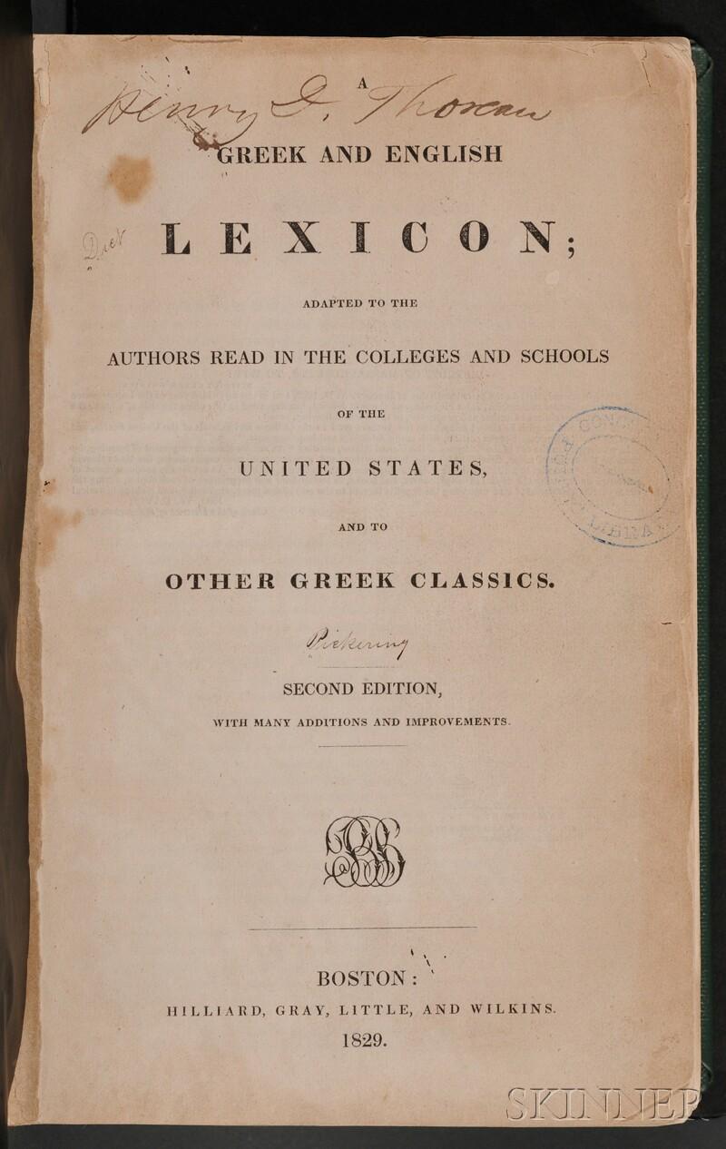 Thoreau, Henry David (1817-1862), His Copy with Manuscript Fragments